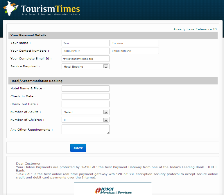 Online Booking Times Tourism Call 040 30488365 9000282897 Ap